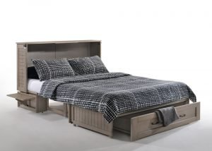 Brushed Driftwood Cabinet Bed